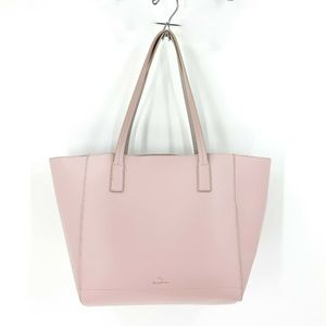 nwt | Tommy Bahama Pink Leather Tote & Clutch